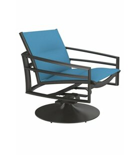 Kor Padded Sling Swivel Action Patio Chair