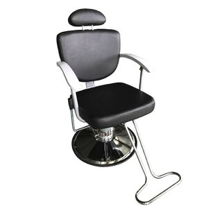 Adjustable Hydraulic Barber Salon Reclining Massage Chair By Symple Stuff