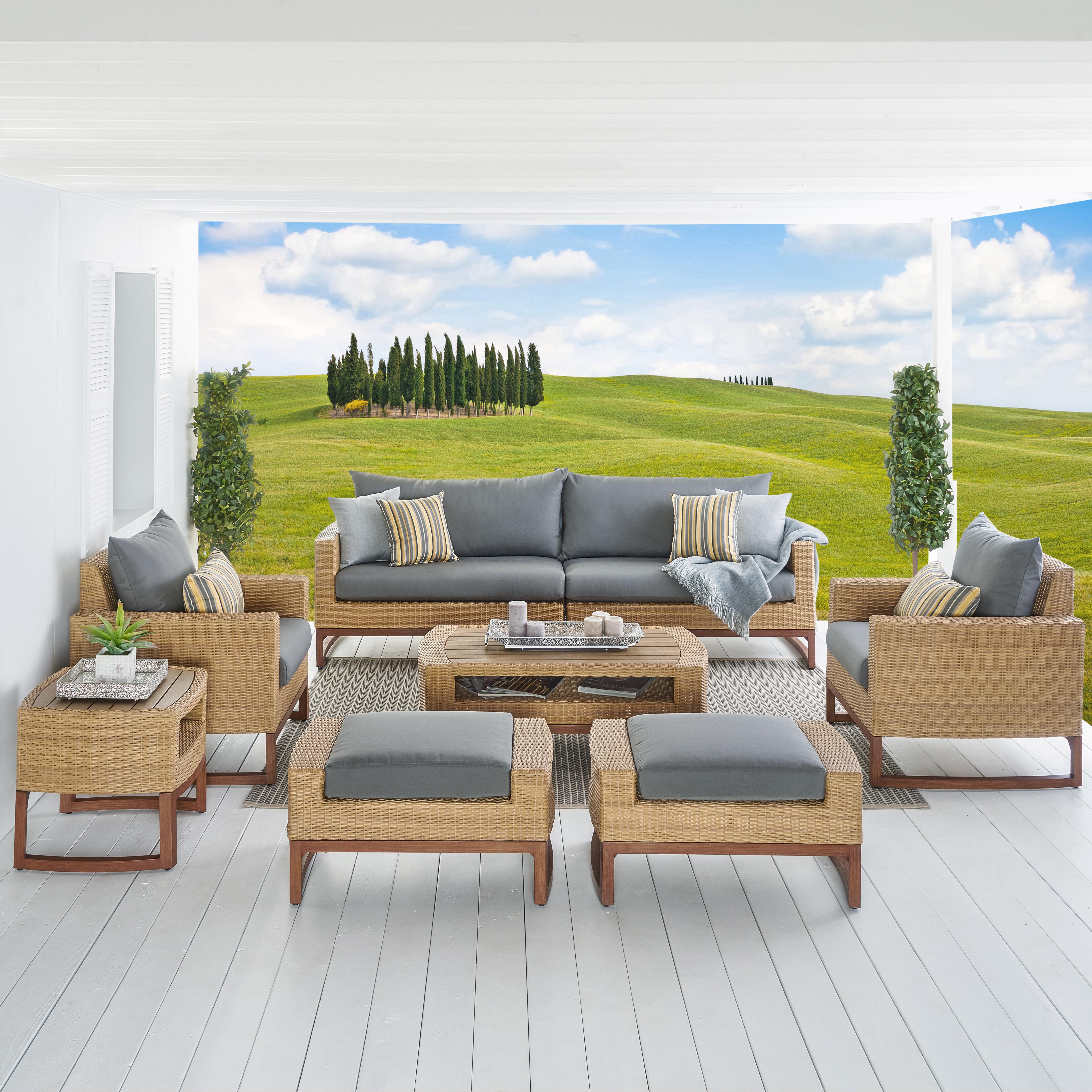 Mcdougal 7 Piece Sunbrella Sofa Seating Group With Cushions Reviews Birch Lane
