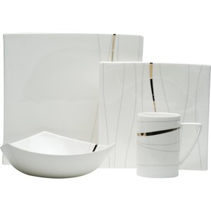 Odette Bone China 4 Piece Place Setting, Service for 1