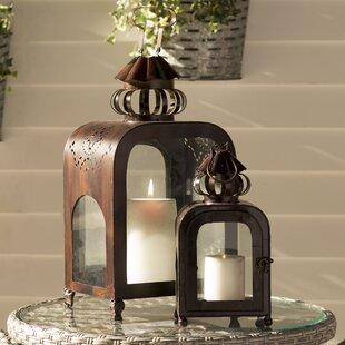 2 Piece Metal Lantern Set ..