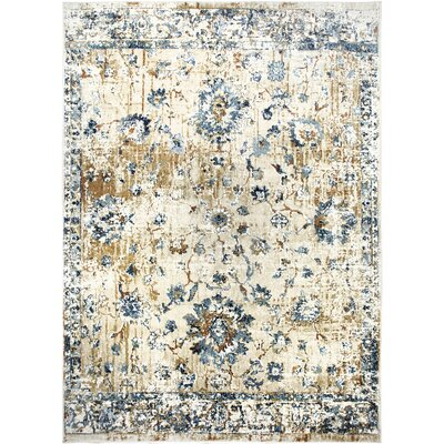 "Heritage Cotton Beige Area Rug Rug Size: Rectangle 5'2"" x 7'2"""