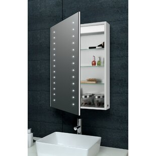 LED 50cm X 70cm Surface Mount Medicine Cabinet With LED Lighting By Belfry Bathroom
