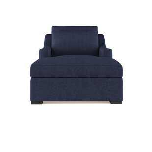 Letterly Velvet Chaise Lounge by 17 Stories
