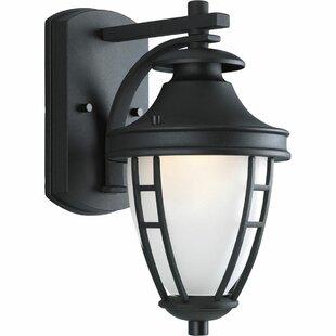 Alcott Hill Triplehorn 1-Light Outdoor Styled Wall Lantern