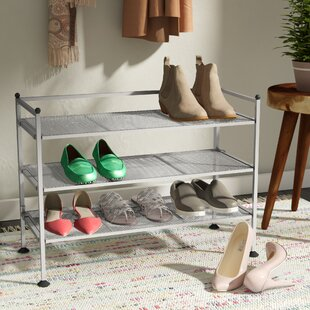 Best Choices 3-Tier 9 Pair Shoe Rack By Rebrilliant