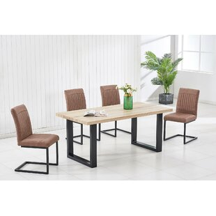 Edelstein Dining Set With 4 Chairs By Ebern Designs