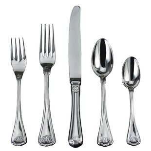Cellini 5 Piece 18/10 Stainless Steel Flatware Set, Service for 1
