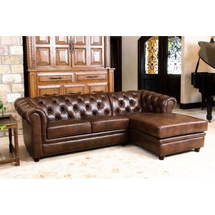 Darby Home Co Lapointe Leather Sectional