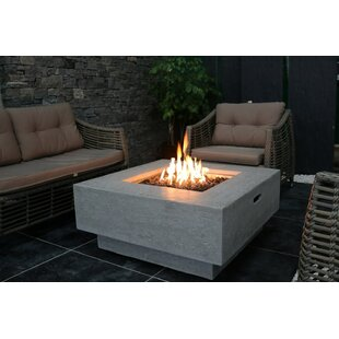 Orren Ellis Zaragoza Concrete Fire Pit Table