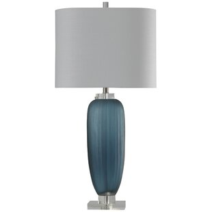 Read Reviews Mcmillen Ribbed Glass 35 Table Lamp By Wrought Studio