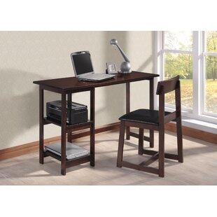 Ebern Designs Fahlbusch Writing Desk and Chair Set