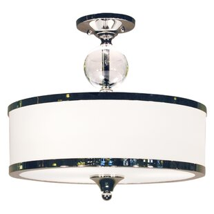 Willa Arlo Interiors Carlitos 3-Light Semi Flush Mount