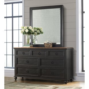 Meryl 7 Drawer Double Dresser with Mirror