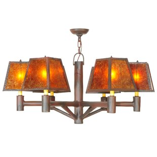Meyda Tiffany Greenbriar Oak Rocky Mountain 6-Light Shaded Chandelier
