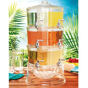 Sheringham 6 Stackable Acrylic 192 oz. Beverage Dispenser