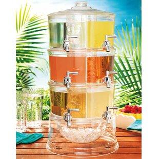 Sheringham 6 Stackable Acrylic 192 oz. Beverage Dispenser