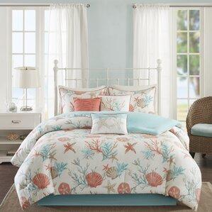 7piece frances cotton comforter set