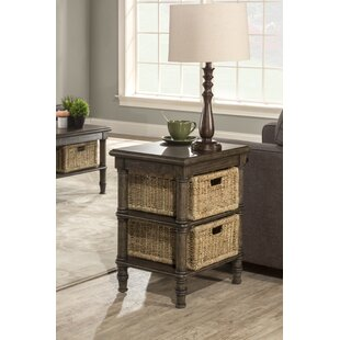 Holst End Table With Baskets