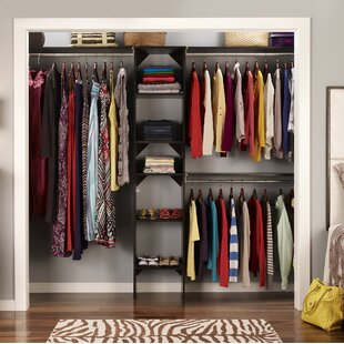 Look for SuiteSymphony 72 W - 108 W Closet System with Top Shelves By ClosetMaid