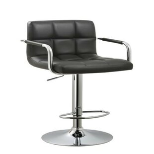 Stamp Adjustable Height Swivel Bar Stool Orren Ellis