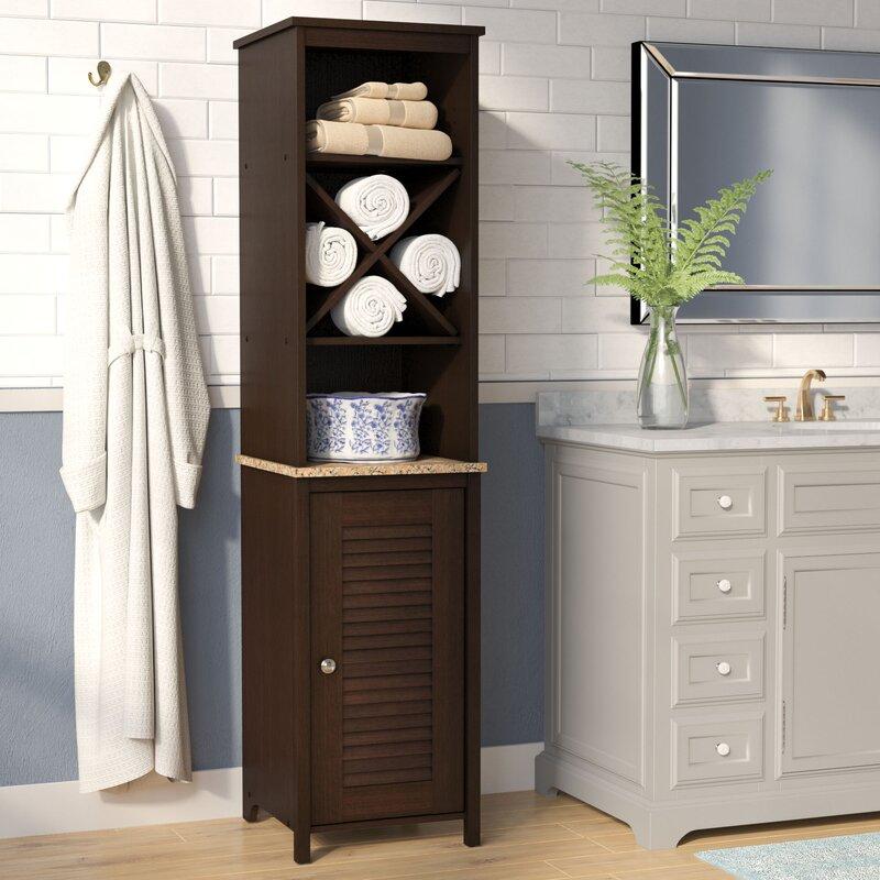 Andover Mills Millersburg 14 72 W X 60 59 H Free Standing Linen Cabinet Reviews Wayfair