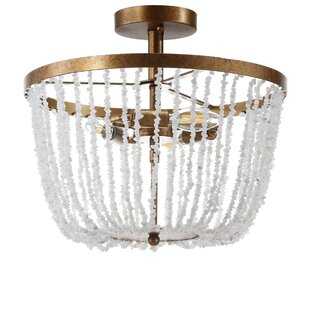 Tatianna 3-Light Semi Flush Mount by Bungalow Rose