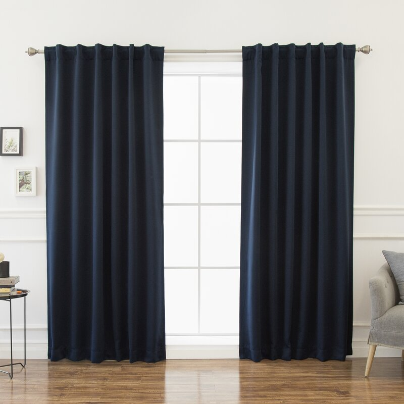 Beachcrest Home Sweetwater Blackout Solid Thermal Curtain