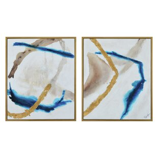 'Overature' 2 Piece Framed Oil Painting Print Set on Canvas