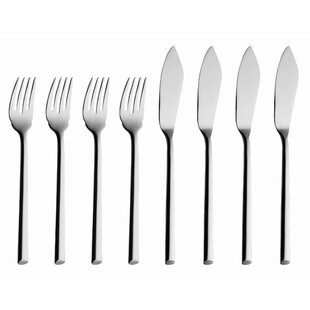 Laura 8 Piece 18/10 Stainless Steel Flatware Set, Service for 4