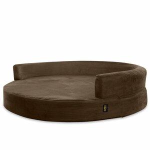 Deluxe Orthopedic Memory Foam Round Lounge Dog Sofa