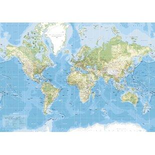 Large World Map Canvas   Wayfair.co.uk
