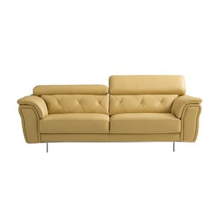 Online Reviews Giusti Leather Sofa by Orren Ellis Reviews (2019) & Buyer's Guide