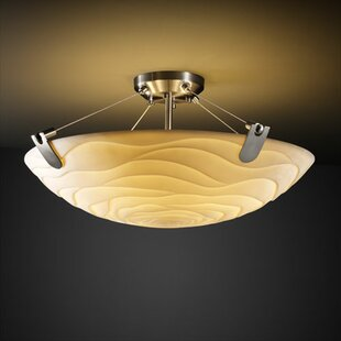 Salaam 3-Light Round Bowl Semi Flush Mount by World Menagerie