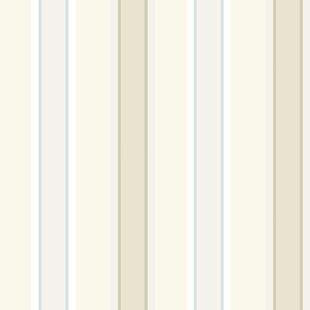 Shabby Elegance 10m L x 52cm W Stripe Roll Wallpaper by East Urban Home