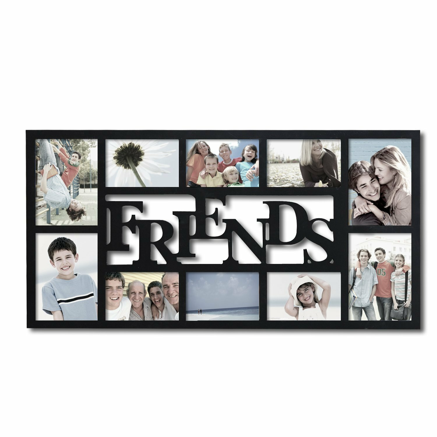 Adecotrading 10 opening decorative friends wall hanging collage adecotrading 10 opening decorative friends wall hanging collage picture frame reviews wayfair jeuxipadfo Image collections