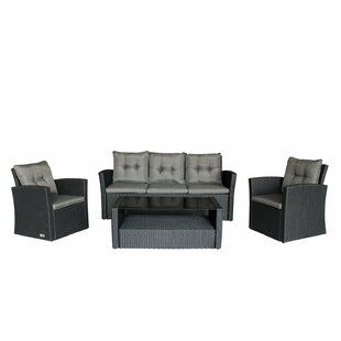Bridgette Outdoor Complete 4 Piece Sofa Seating Group