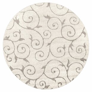 Pipers Ivory Vine Swirls Area Rug by Charlton Home