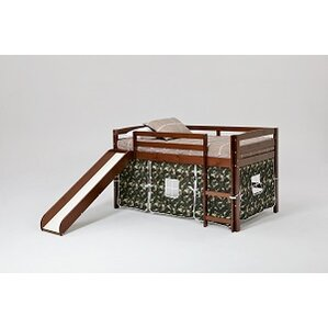 camo loft bed with slide and ladder