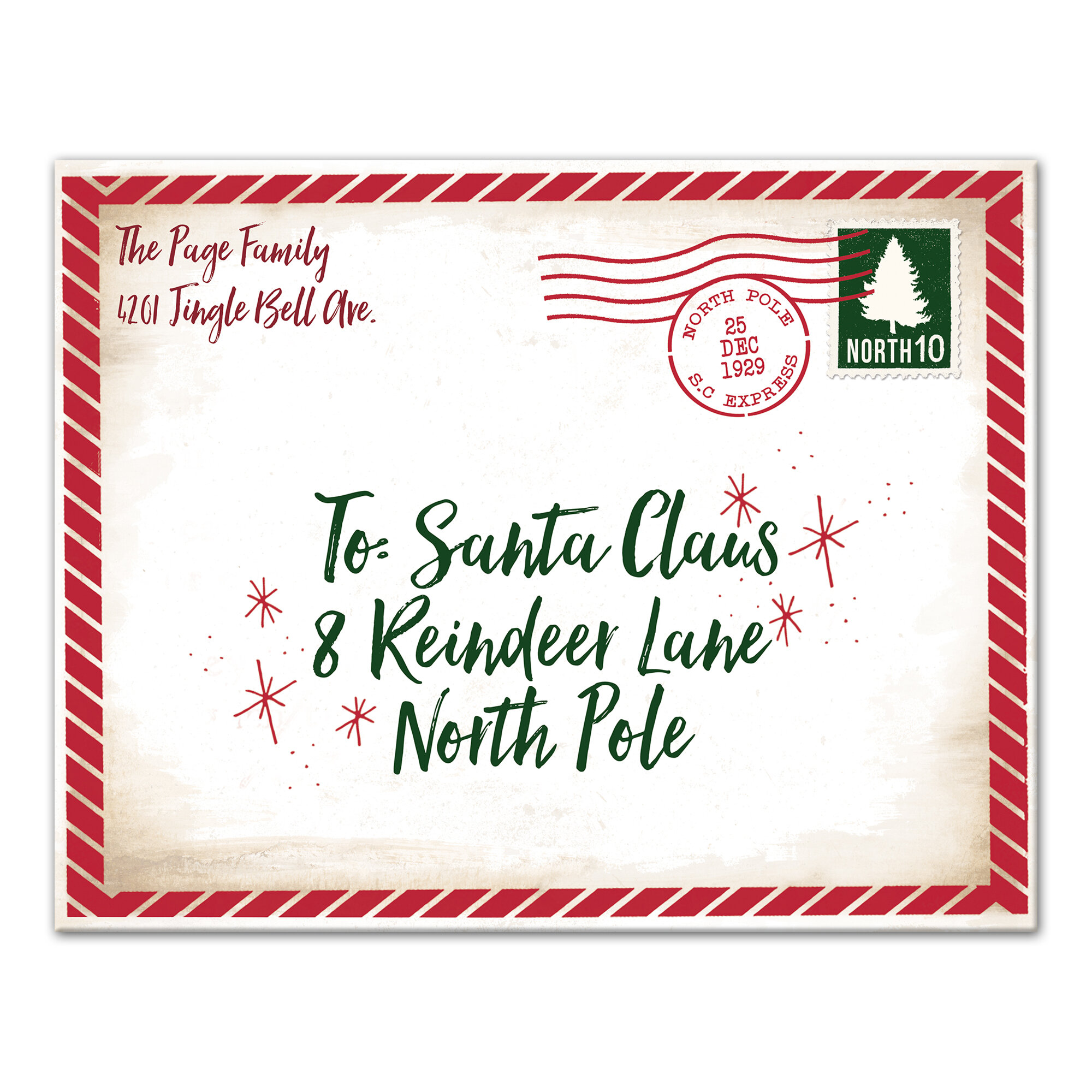 designs direct creative group dear santa envelope textual art on