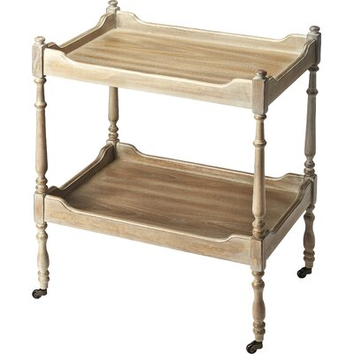 Albina Bar Cart Frame Color: Driftwood by Darby Home Co