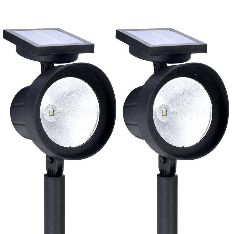 Crosslight Black Solar Powered Integrated Led Spot Light Pack Reviews Wayfair