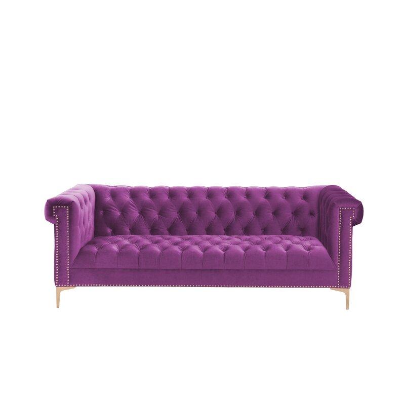 Charmant Bea Velvet Chesterfield Sofa