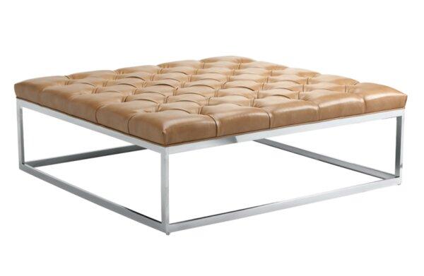 Sunpan Modern Club Sutton Square Large Leather Ottoman U0026 Reviews | Wayfair