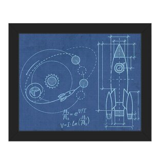 Blueprint framed art wayfair shuttle blueprint framed graphic art malvernweather Images