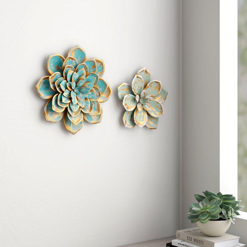Multiple Layer Metal Flower Wall