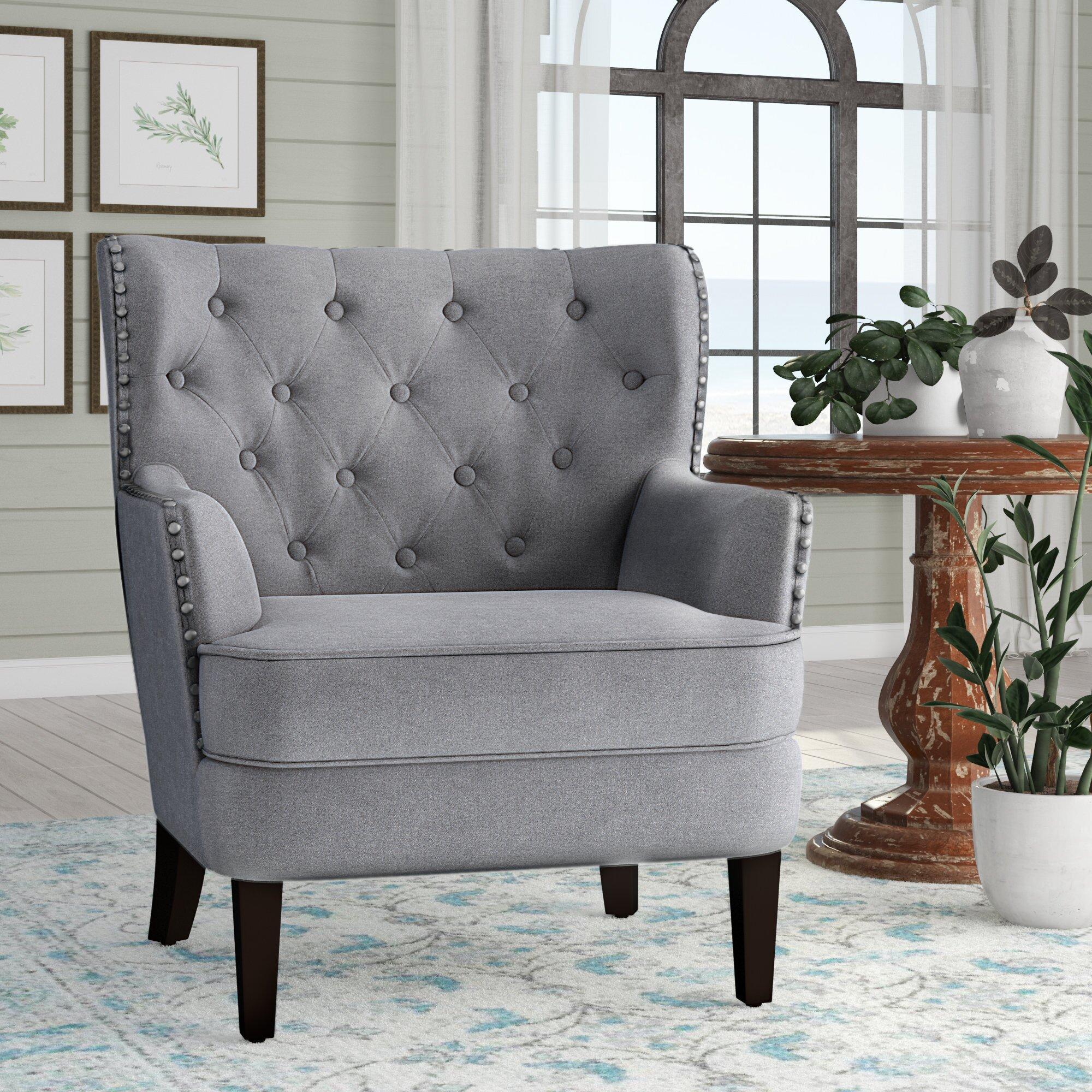 Grey Velvet Accent Chair Wayfair