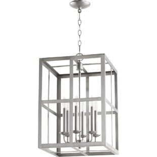 Quorum Cuboid II Entry 6-Light Square/Rectangle Chandelier
