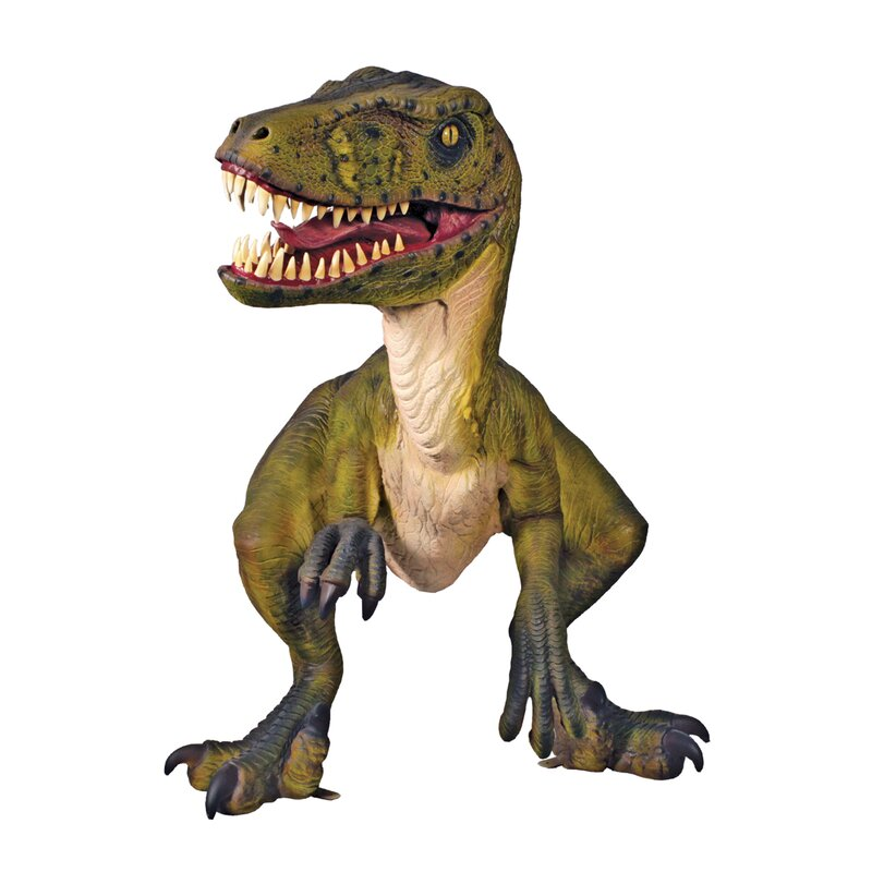 Jurassic Sized Dromaeosaurus Raptor Dinosaur Statue