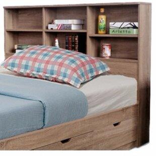Latitude Run Dockery Elegant Bookcase Headboard with 6 Shelves